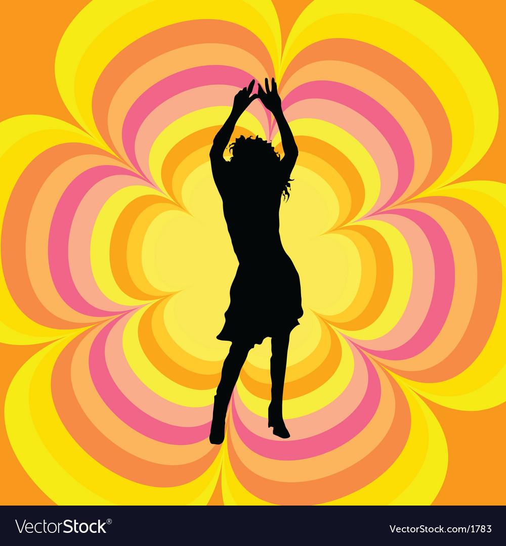 Retro female dancer vector   Price: 1 Credit (USD $1)