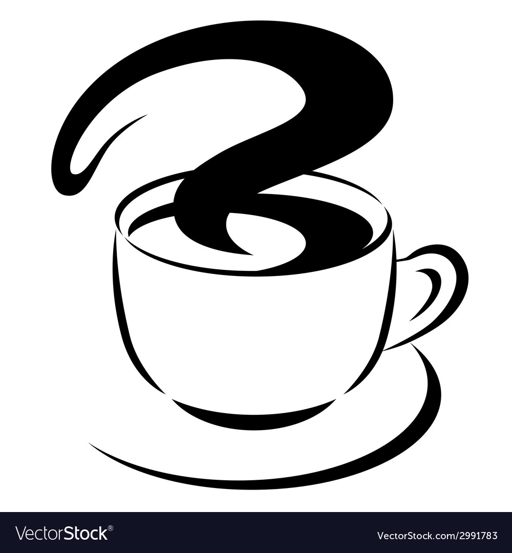 Styled coffee cup vector | Price: 1 Credit (USD $1)