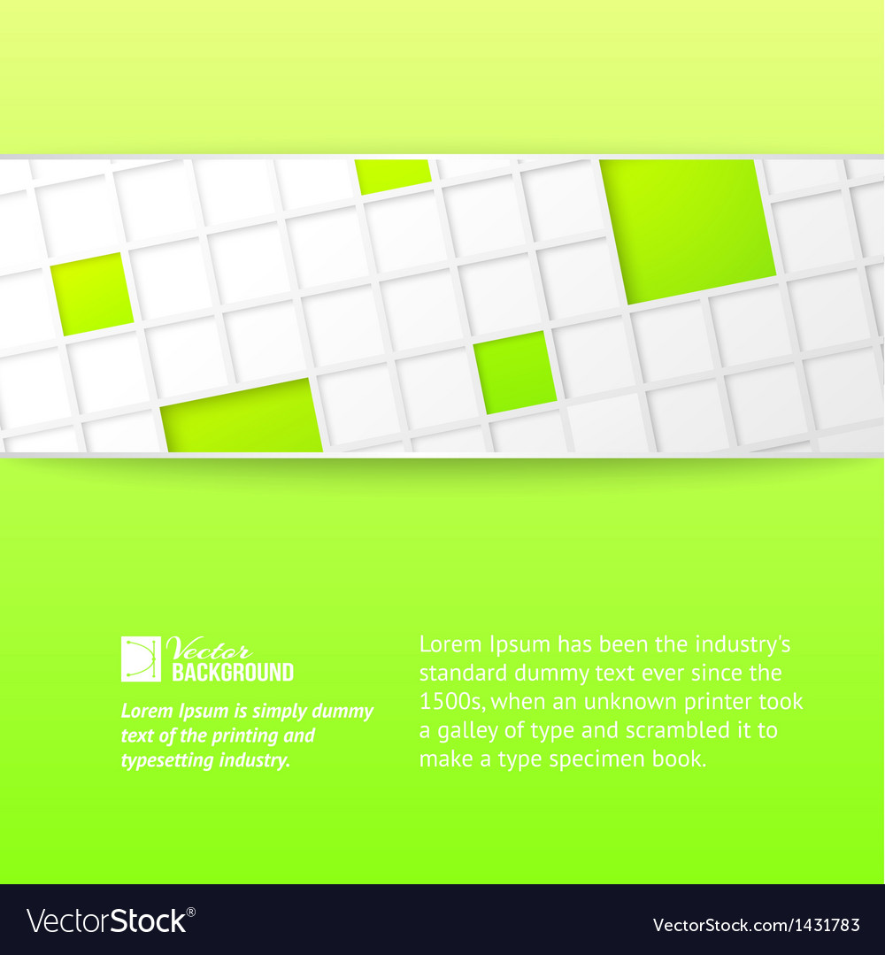 Tile banner over green backdrop vector | Price: 1 Credit (USD $1)
