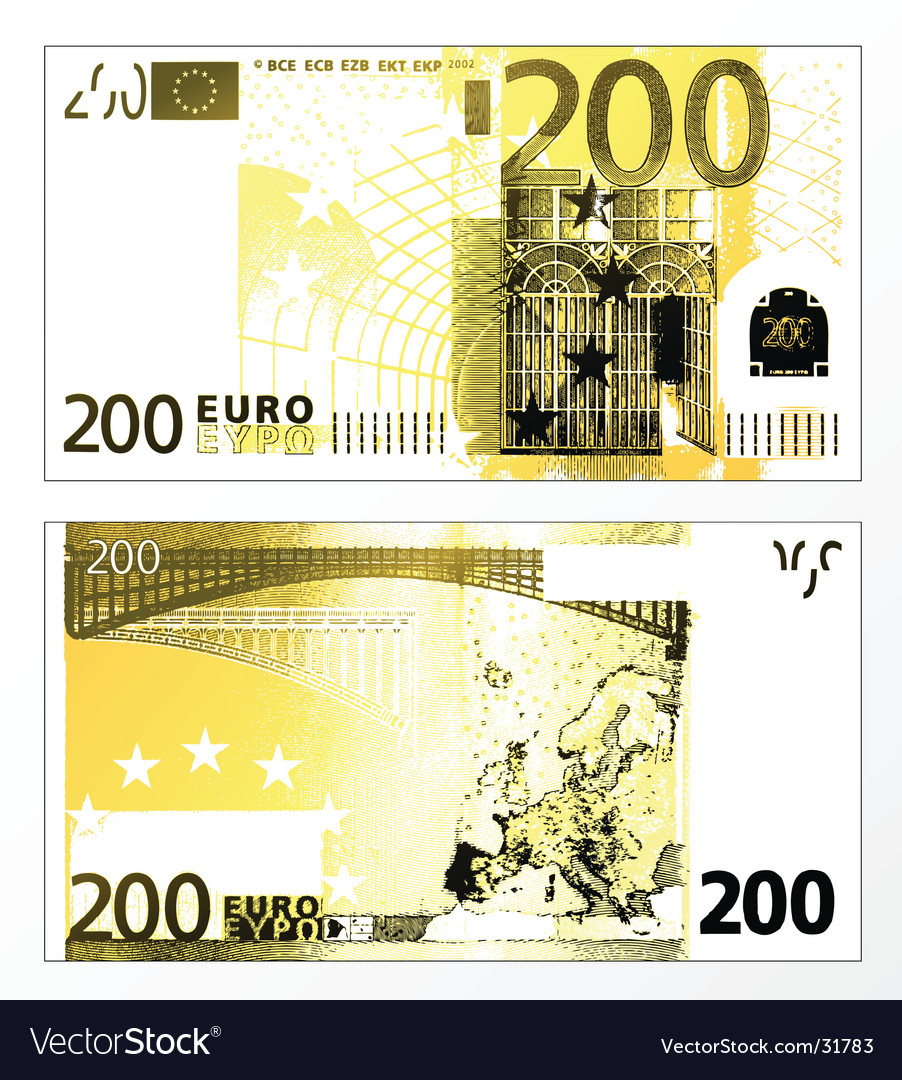 Two hundred euro grunge trace vector   Price: 1 Credit (USD $1)