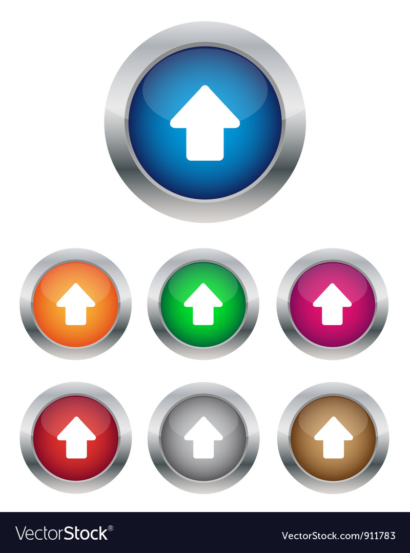 Up arrow buttons vector | Price: 1 Credit (USD $1)