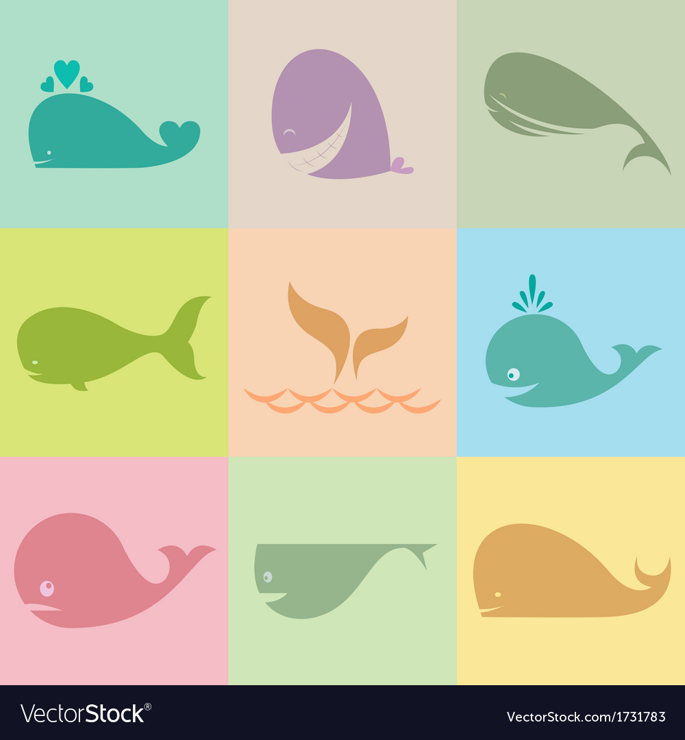 Whale group vector | Price: 1 Credit (USD $1)