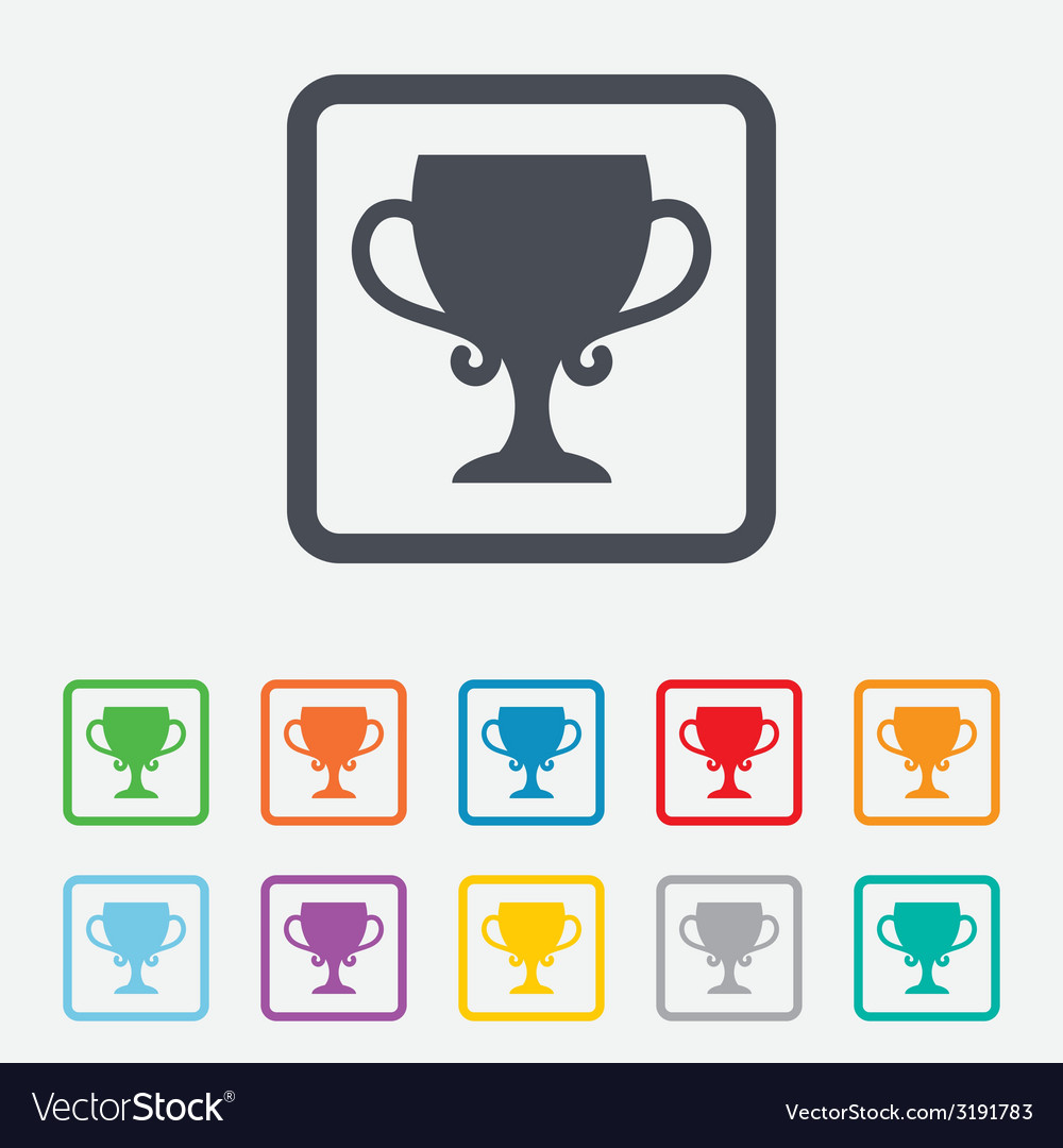 Winner cup sign icon awarding of winners vector | Price: 1 Credit (USD $1)