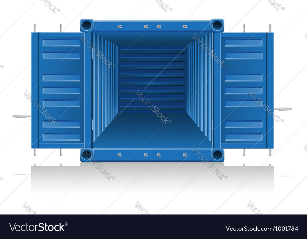Cargo container 04 vector | Price: 1 Credit (USD $1)