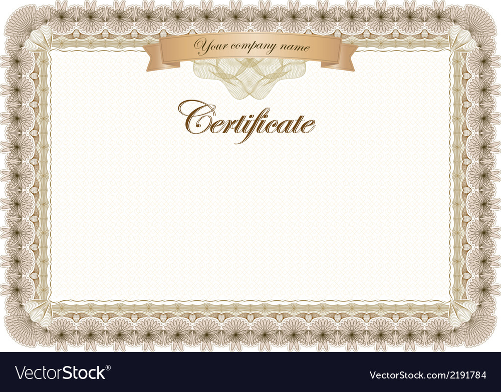 Certificate vintage graduate diploma vector | Price: 1 Credit (USD $1)