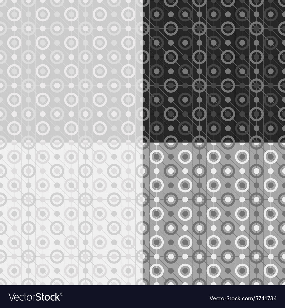 Grey seamless patterns vector | Price: 1 Credit (USD $1)