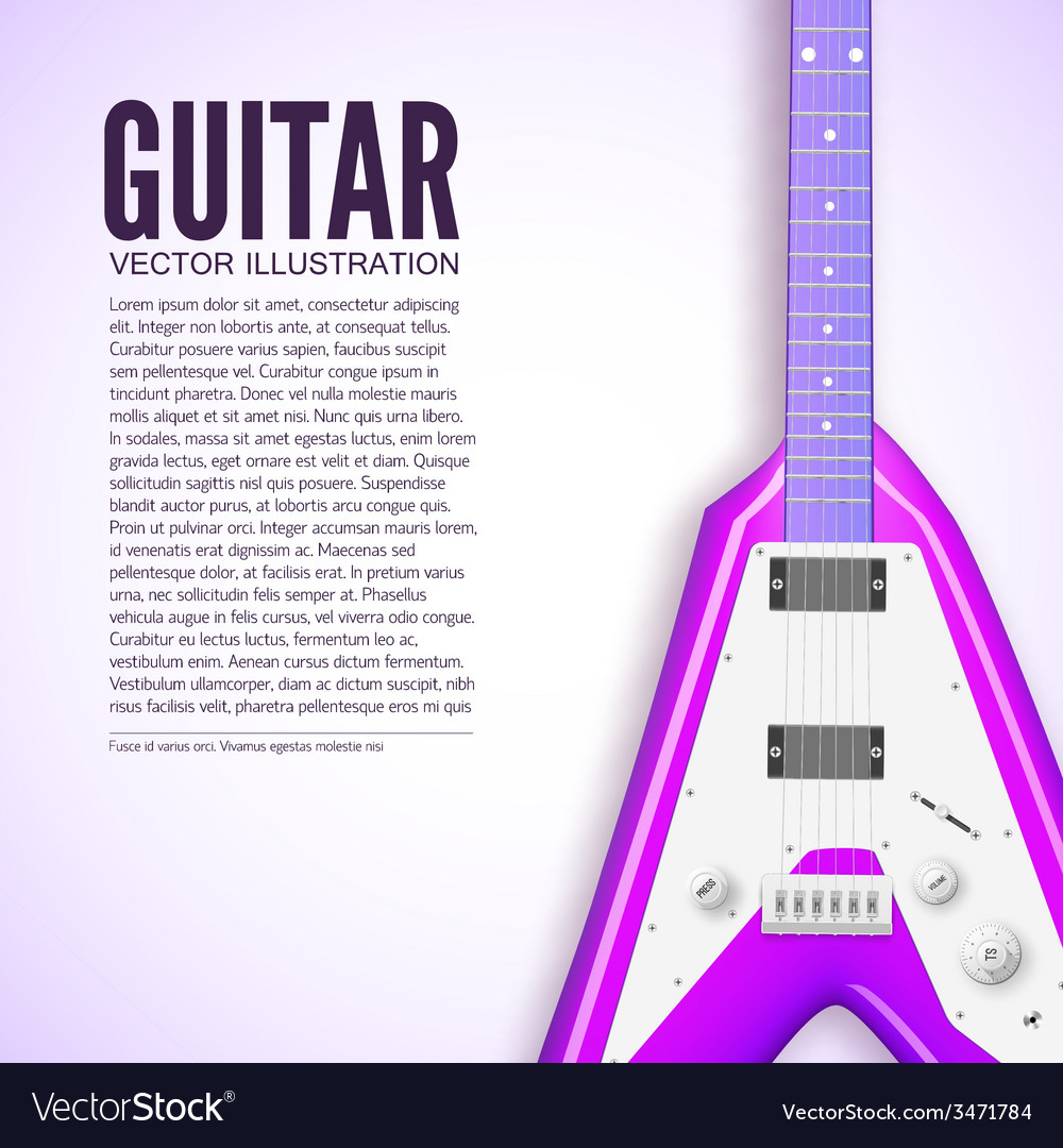 Guitar background concept vector | Price: 1 Credit (USD $1)