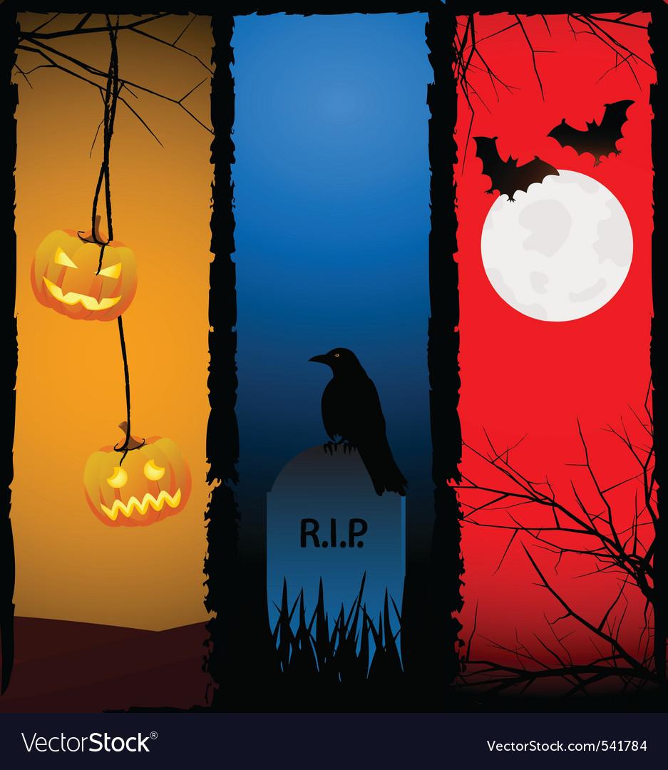 Halloween scenes vector   Price: 1 Credit (USD $1)