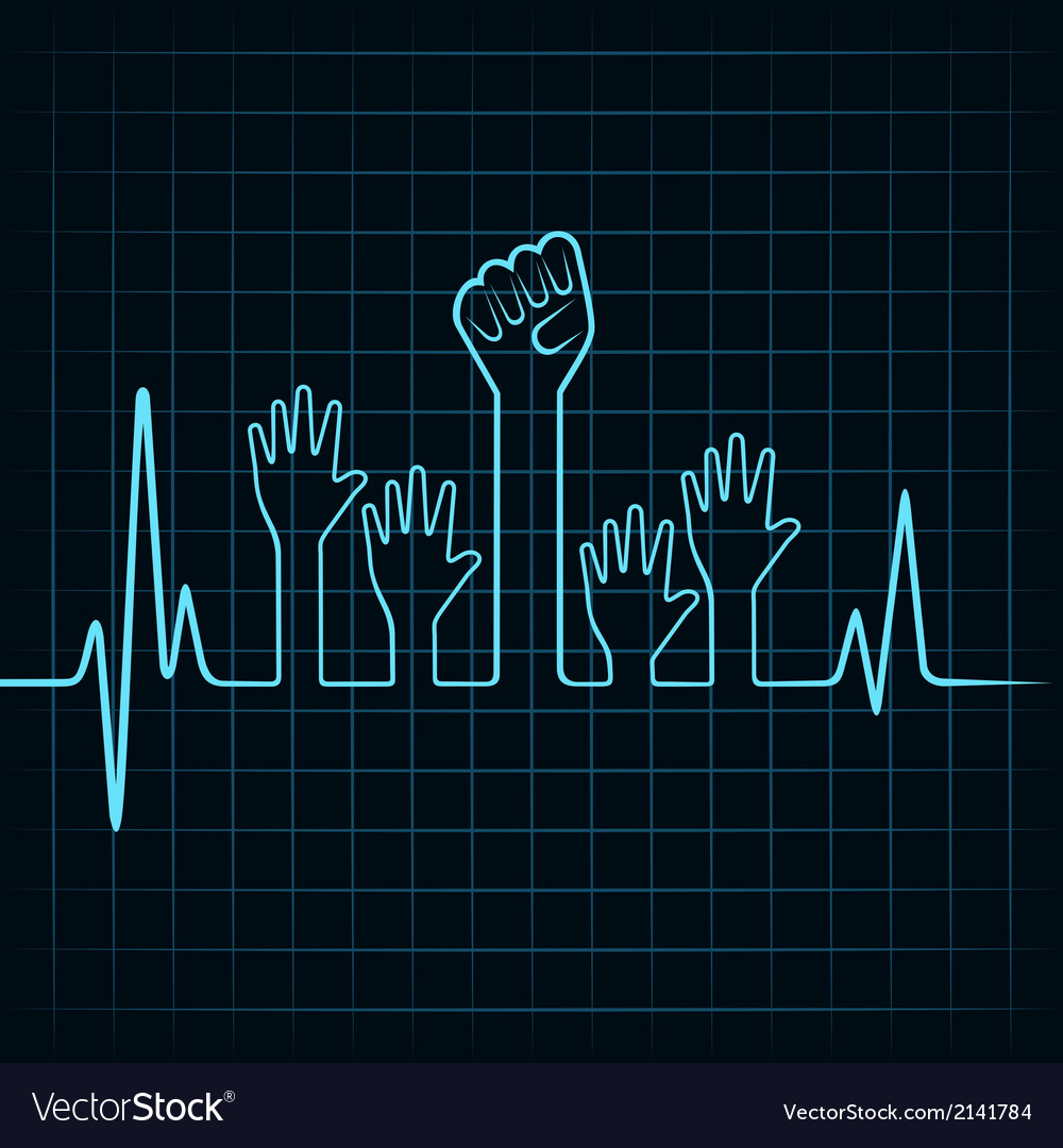 Heartbeat make helping and unity hand vector | Price: 1 Credit (USD $1)