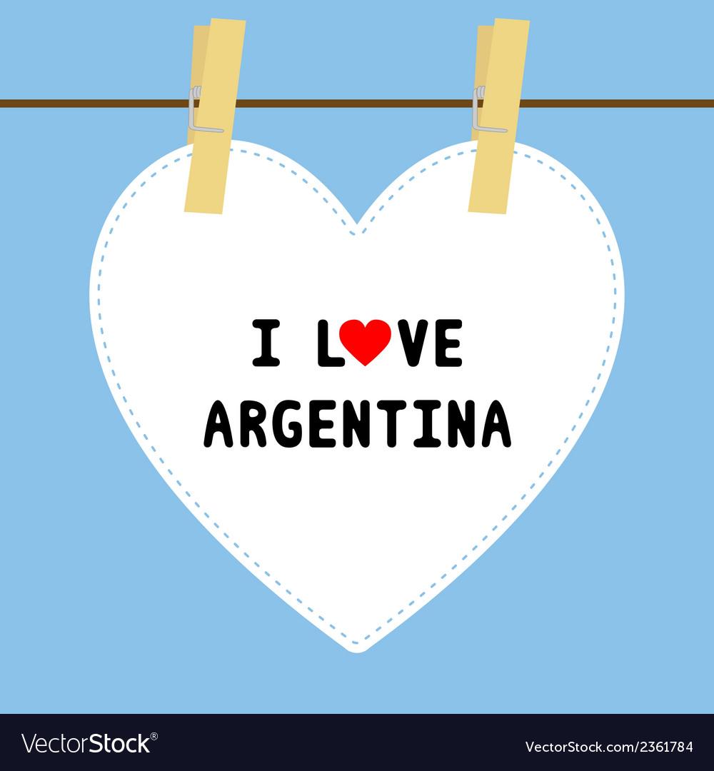 I love argentina5 vector | Price: 1 Credit (USD $1)
