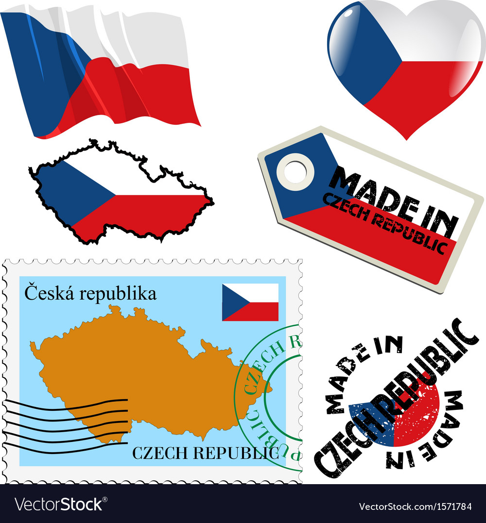 National colours of czech republic vector | Price: 1 Credit (USD $1)