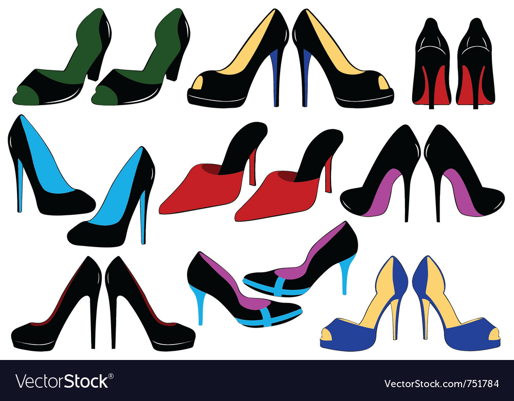 Of different shoes vector | Price: 1 Credit (USD $1)