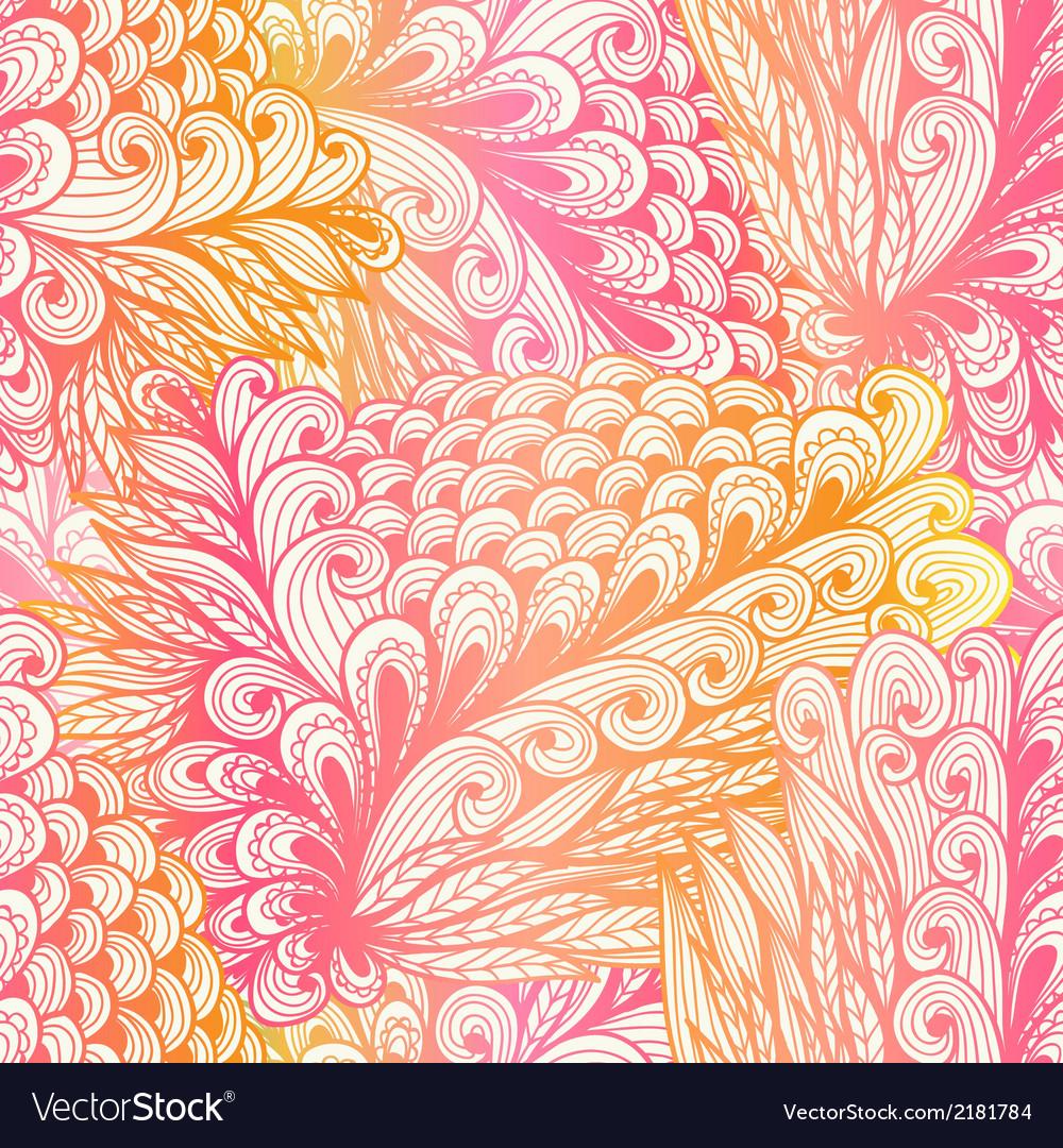 Seamless floral vintage pink pattern vector | Price: 1 Credit (USD $1)