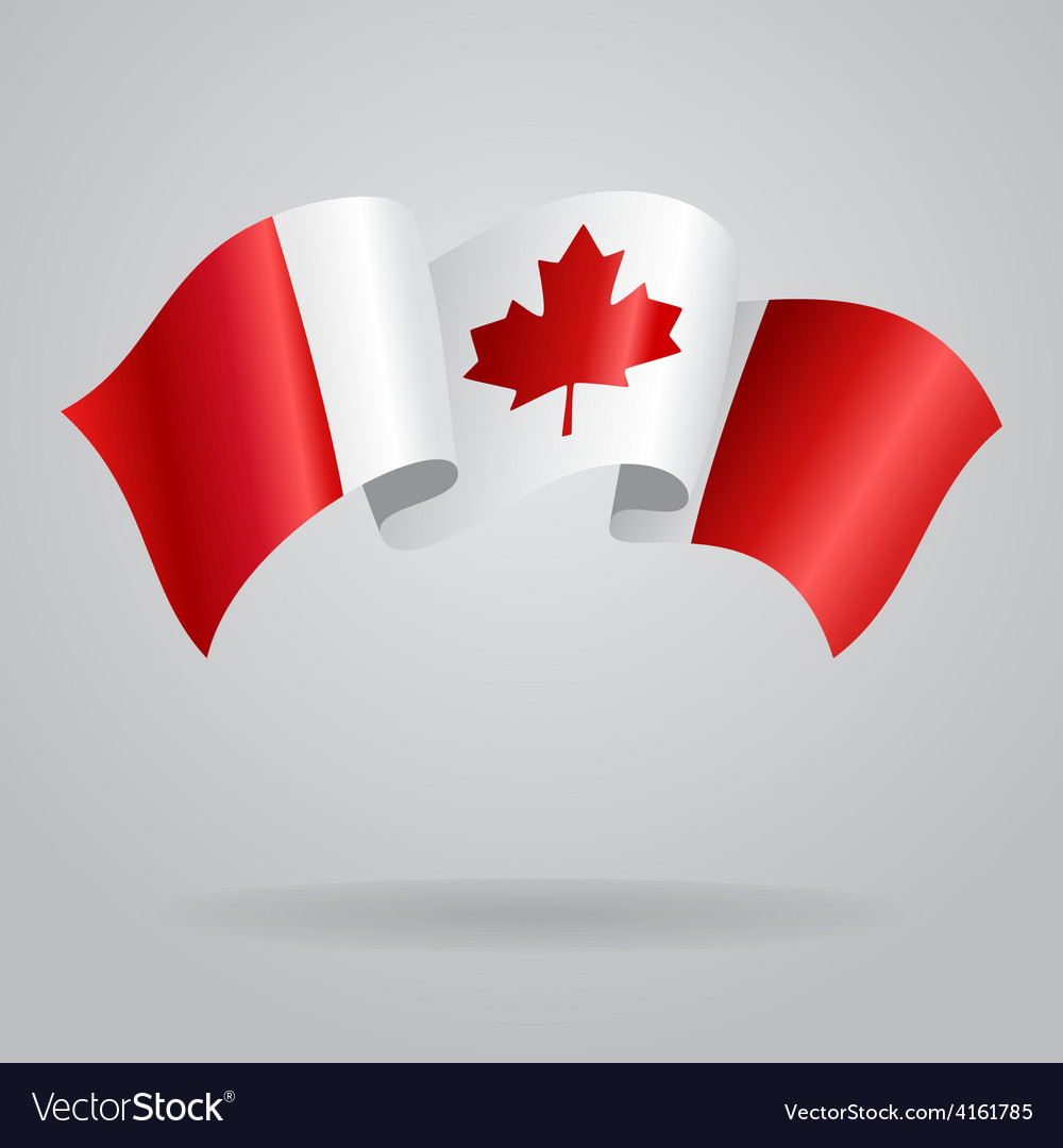 Canadian waving flag vector | Price: 3 Credit (USD $3)