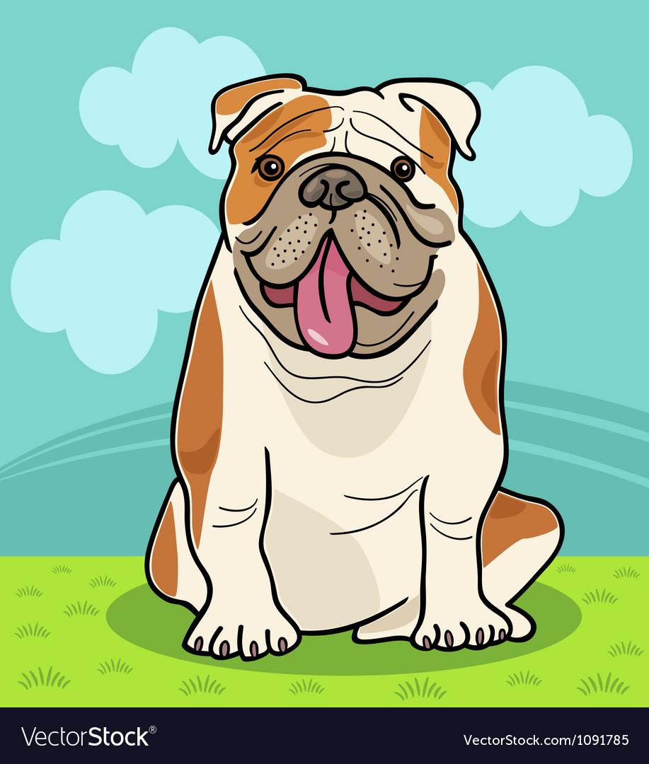 English bulldog dog cartoon vector   Price: 1 Credit (USD $1)