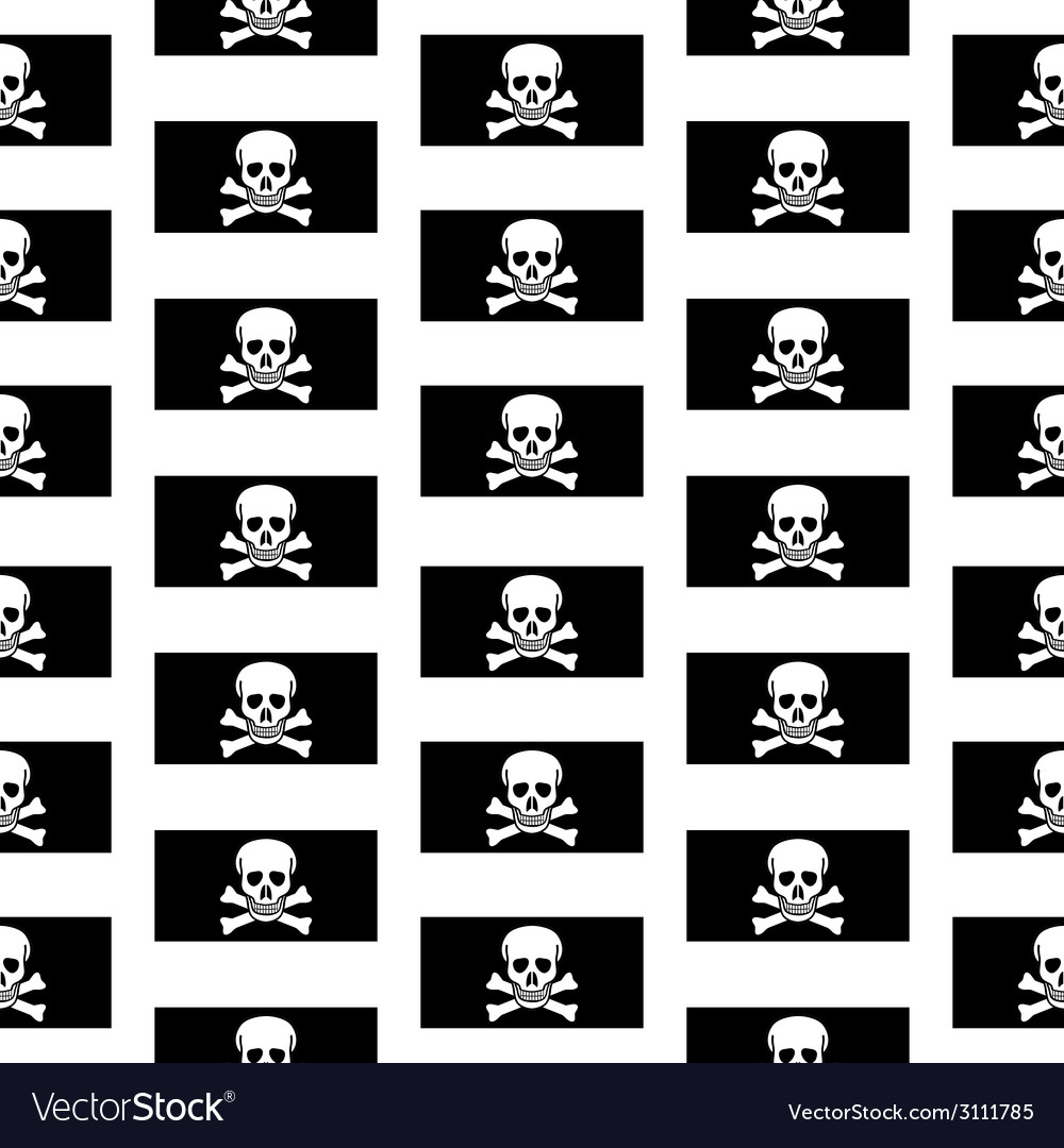 Jolly roger seamless pattern vector | Price: 1 Credit (USD $1)