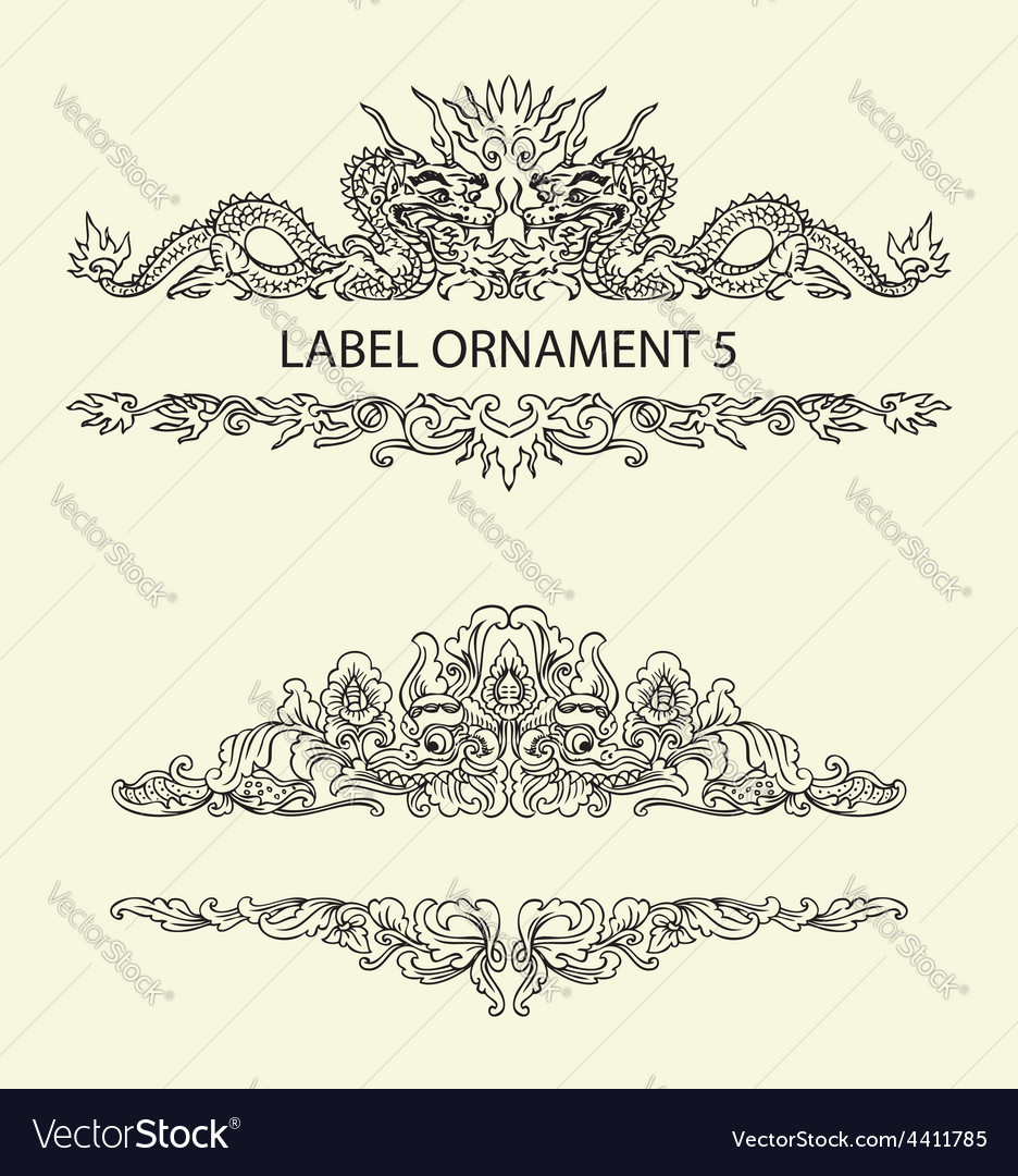 Label ornament 5 vector | Price: 1 Credit (USD $1)