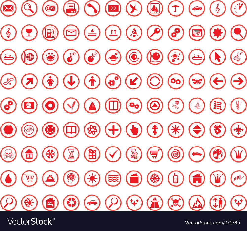 Multi-subject icon set vector | Price: 1 Credit (USD $1)