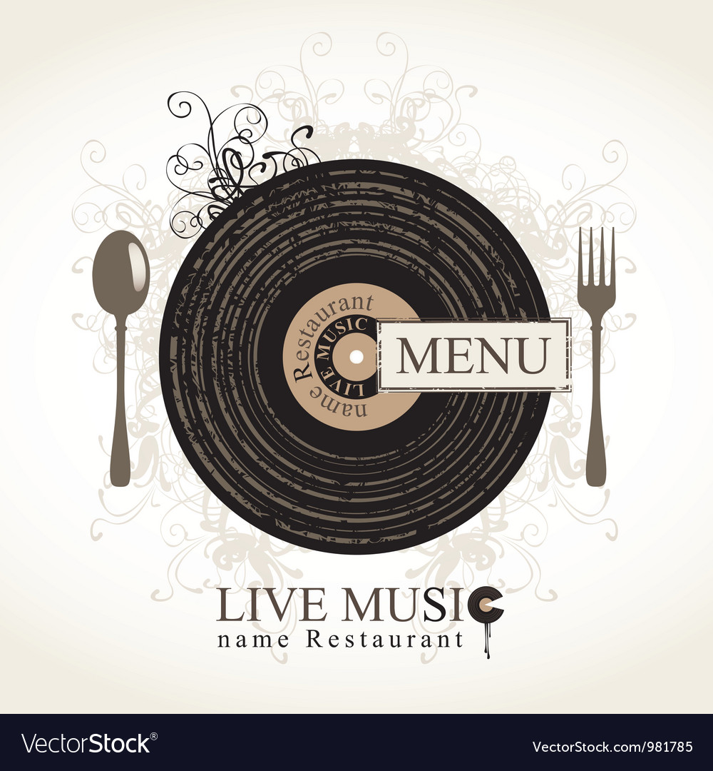 Musical cafe vector | Price: 3 Credit (USD $3)