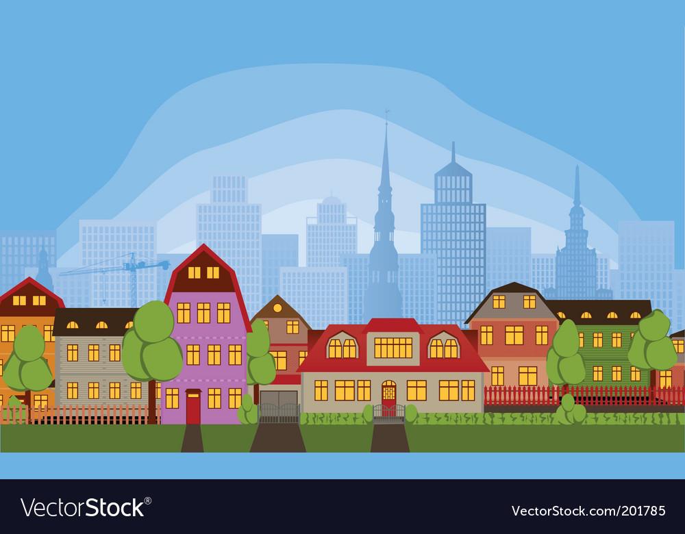 Neighborhood houses vector | Price: 1 Credit (USD $1)