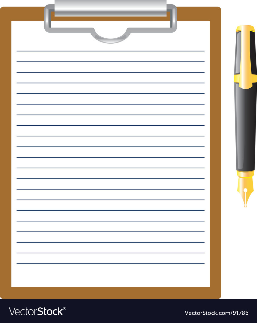 Pen and clipboard vector | Price: 1 Credit (USD $1)