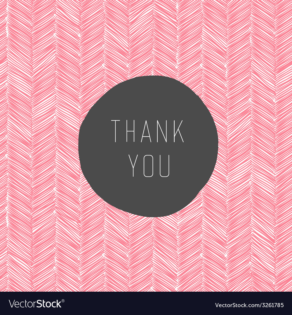 Pink colored thank you card vector | Price: 1 Credit (USD $1)