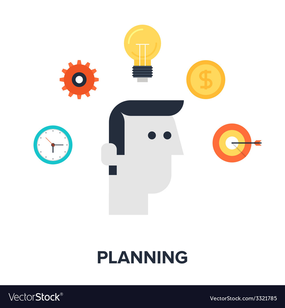 Planning vector | Price: 1 Credit (USD $1)
