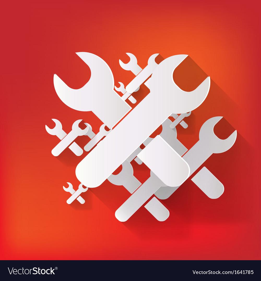 Repair web icon vector | Price: 1 Credit (USD $1)