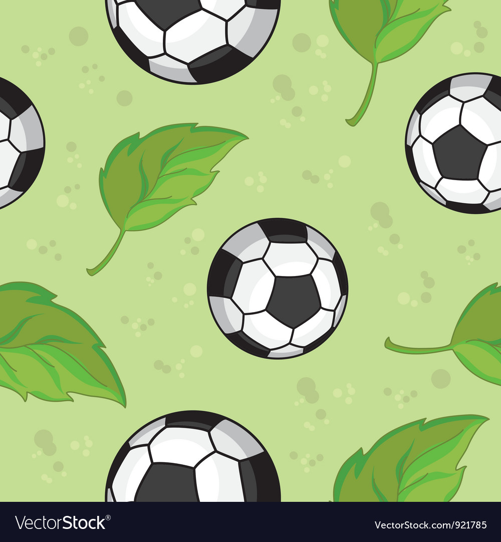 Seamless football and leaves vector | Price: 3 Credit (USD $3)