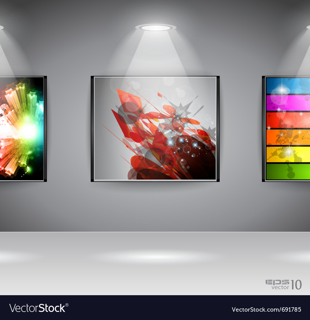 Show room art gallery vector | Price: 3 Credit (USD $3)