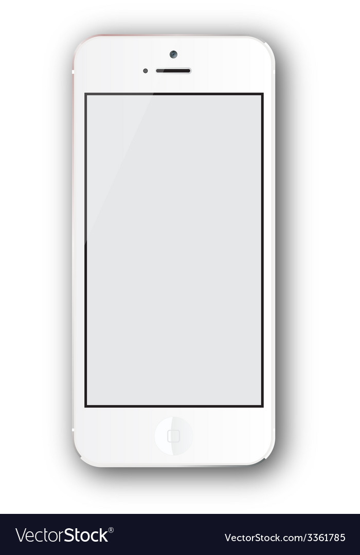 White iphone vector | Price: 1 Credit (USD $1)