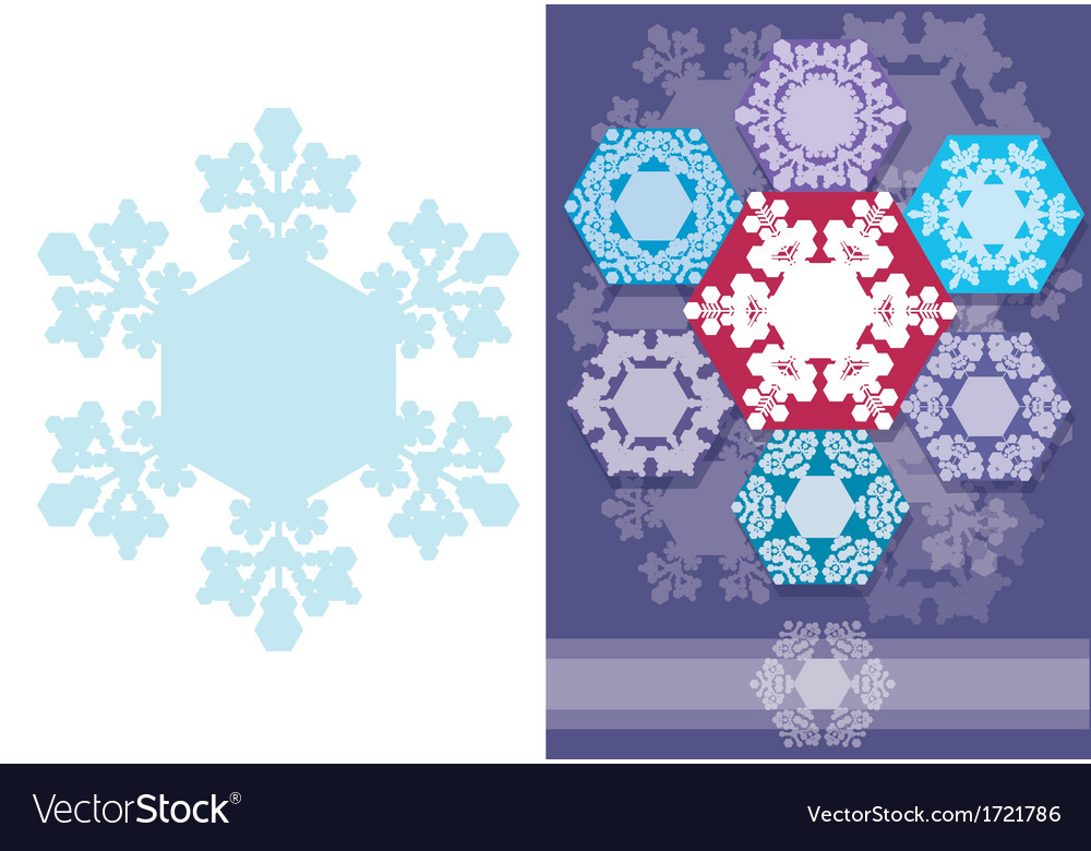 Christmas card with snowflakes geometric design vector | Price: 1 Credit (USD $1)