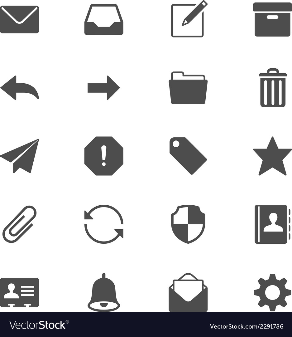 Email flat icons vector | Price: 1 Credit (USD $1)