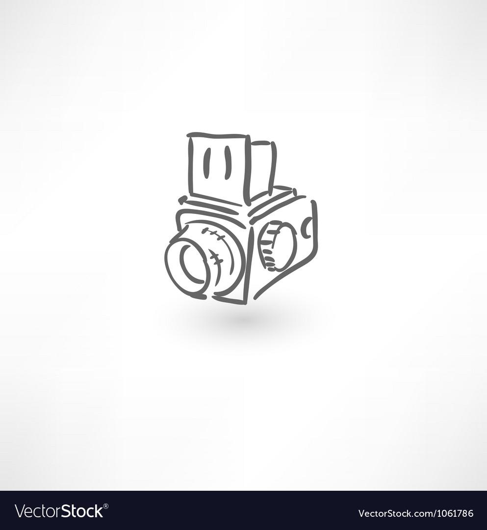 Hand drawn old camera icon vector | Price: 1 Credit (USD $1)