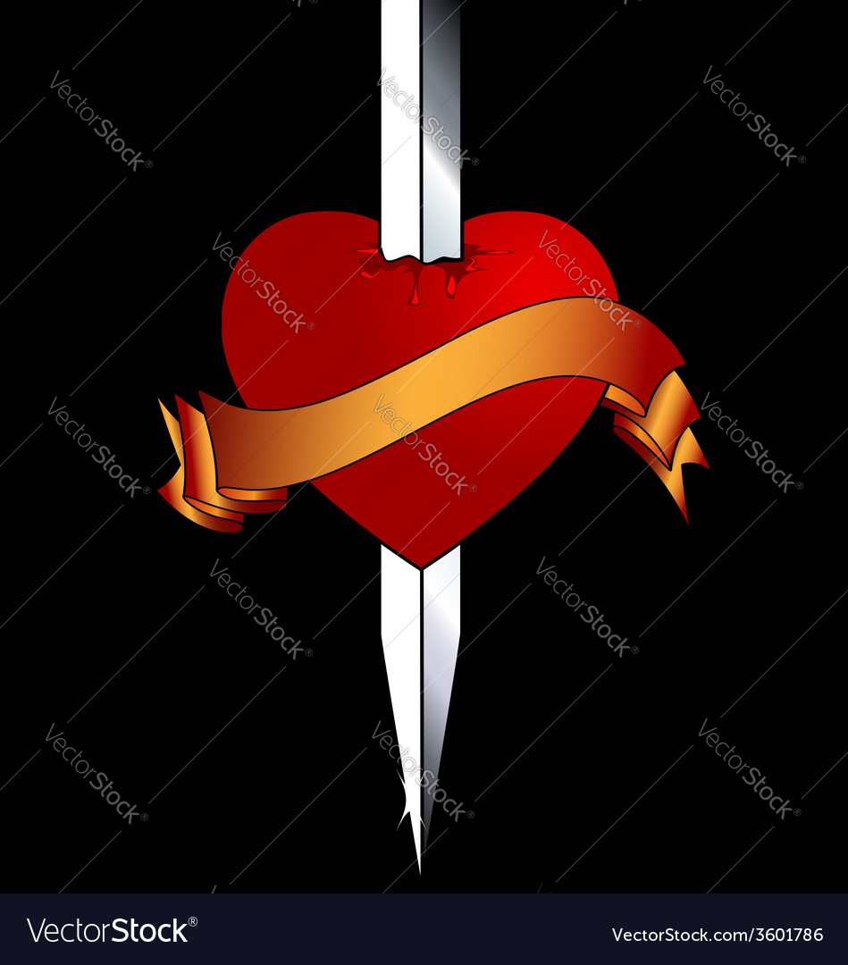 Heart and blade vector | Price: 1 Credit (USD $1)