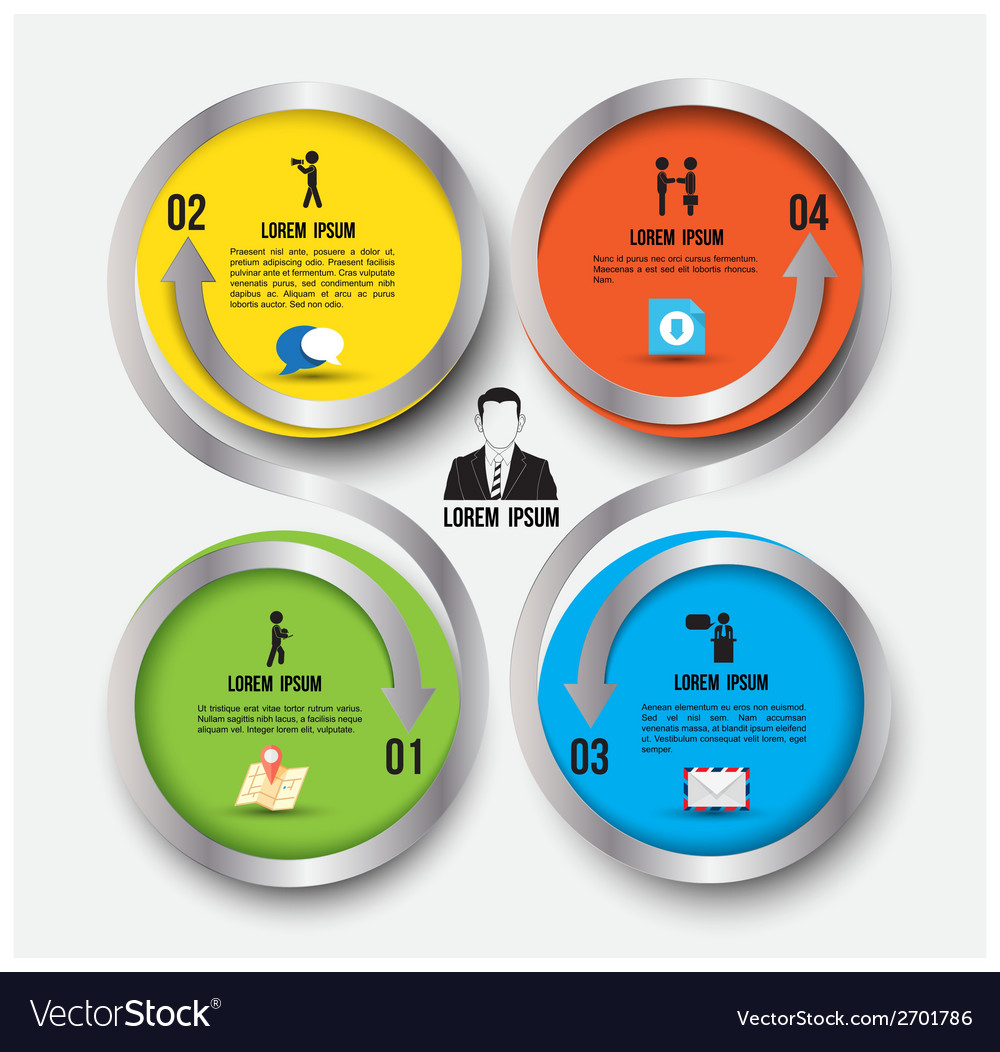 Modern simply infographic template vector | Price: 1 Credit (USD $1)