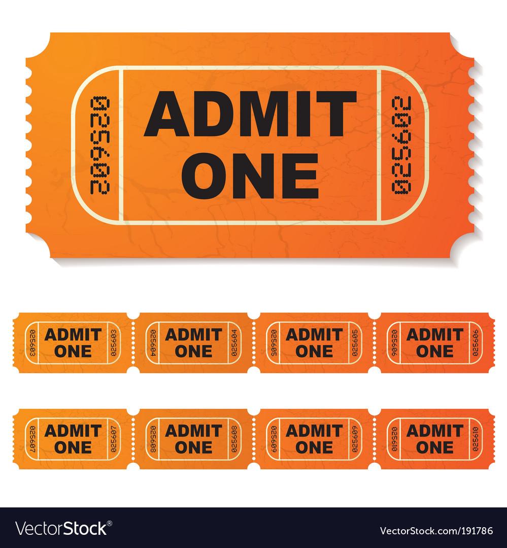 Movie ticket vector | Price: 1 Credit (USD $1)
