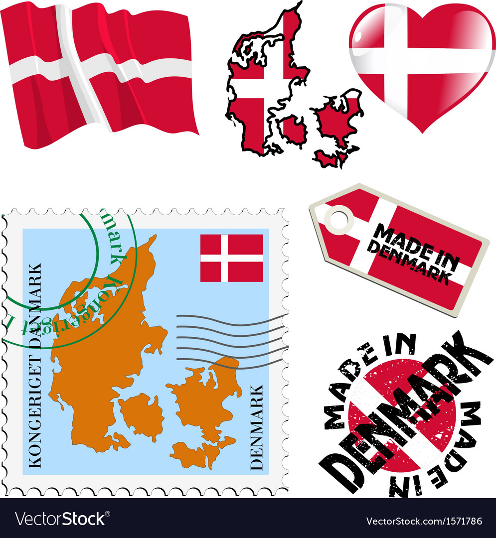 National colours of denmark vector | Price: 1 Credit (USD $1)