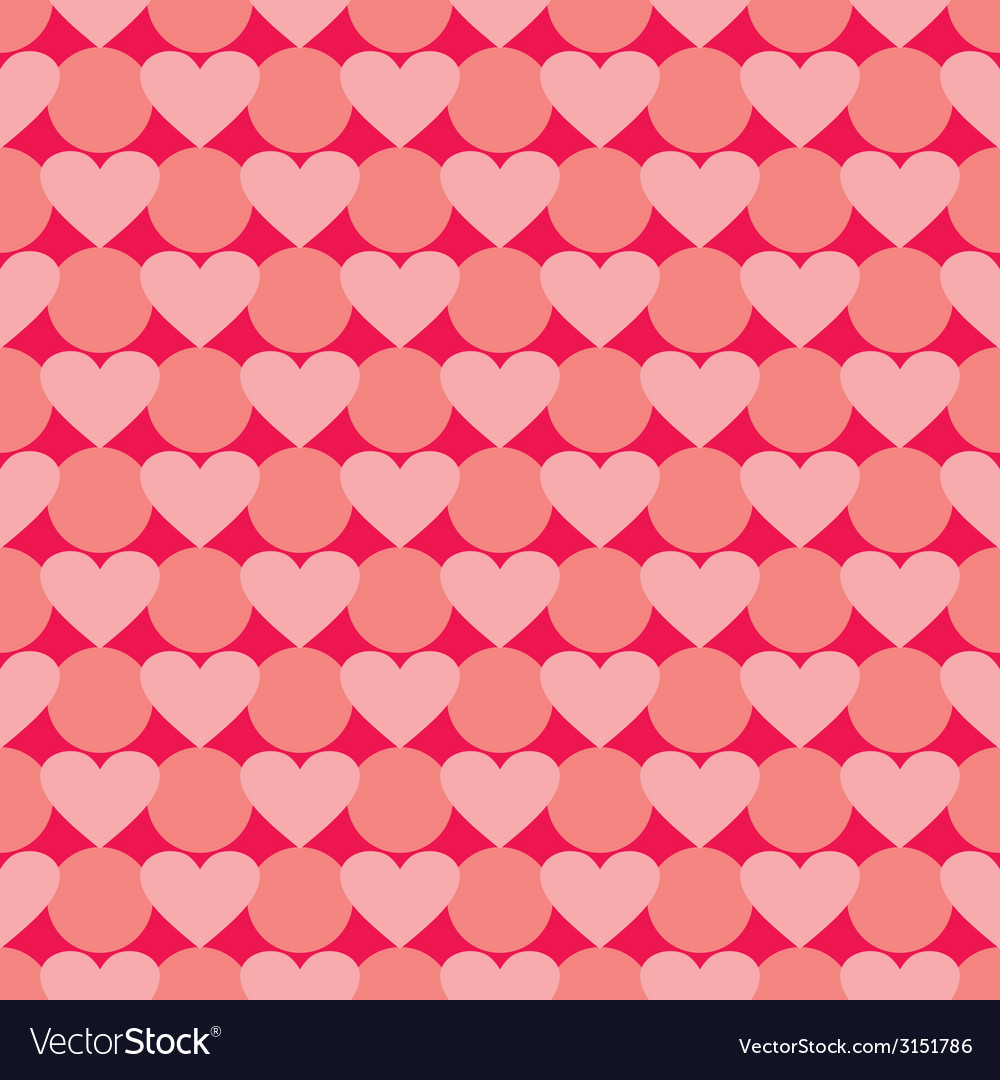 Pink and red valentines tile background with heart vector | Price: 1 Credit (USD $1)