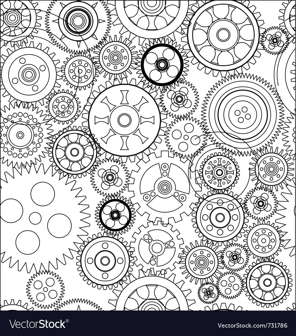 Seamless gear and cogwheel background vector | Price: 1 Credit (USD $1)