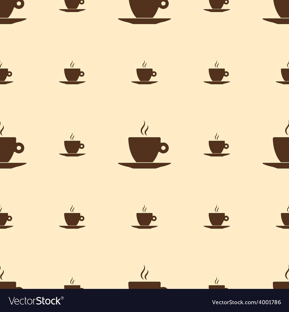 Seamless pattern with coffee cup vector | Price: 1 Credit (USD $1)