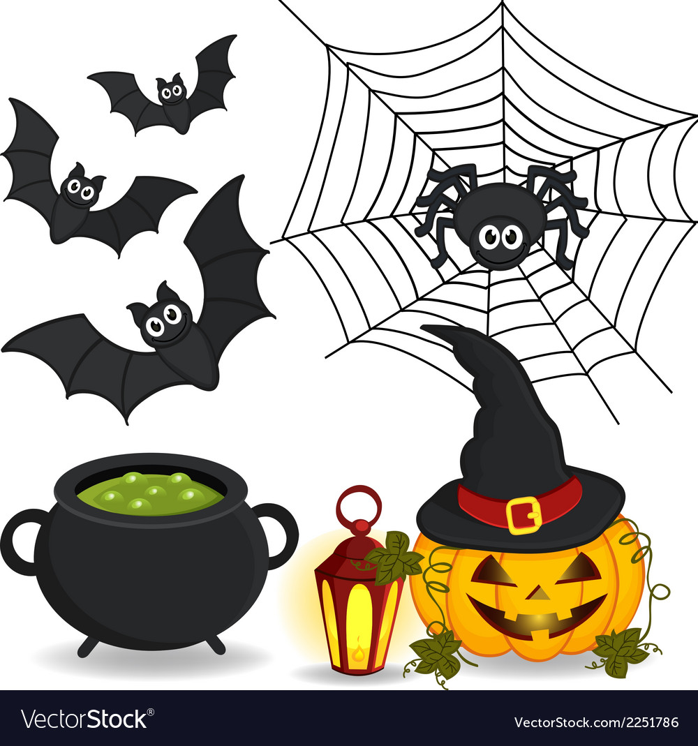 Set of icon halloween vector | Price: 1 Credit (USD $1)