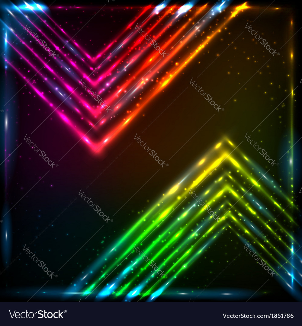 Shining neon arrows abstract background vector | Price: 1 Credit (USD $1)