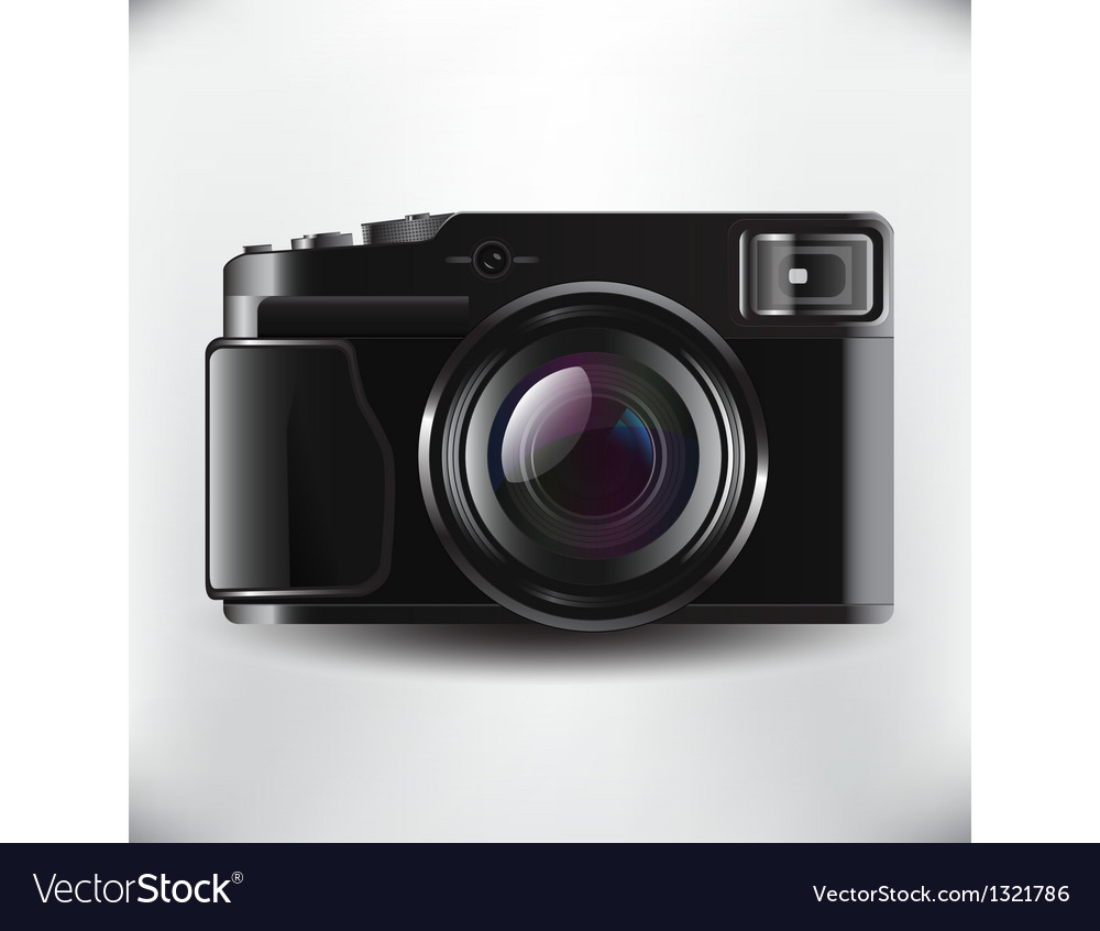 Slr camera vector | Price: 1 Credit (USD $1)