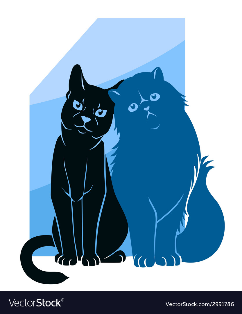 Two abstract cats vector | Price: 1 Credit (USD $1)
