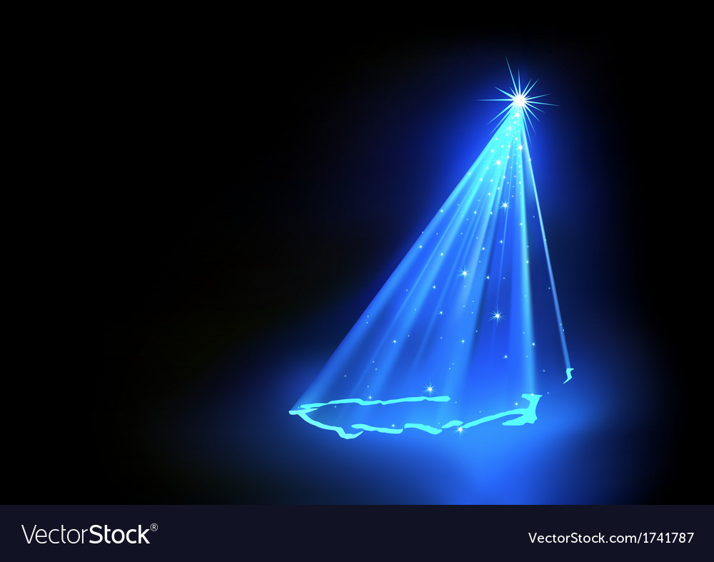 Blue abstract christmas tree vector | Price: 1 Credit (USD $1)