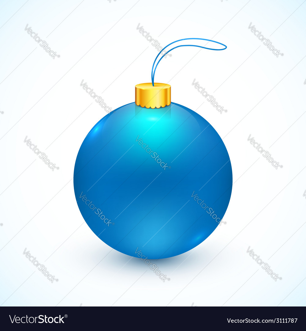 Blue isolated christmas ball vector | Price: 1 Credit (USD $1)