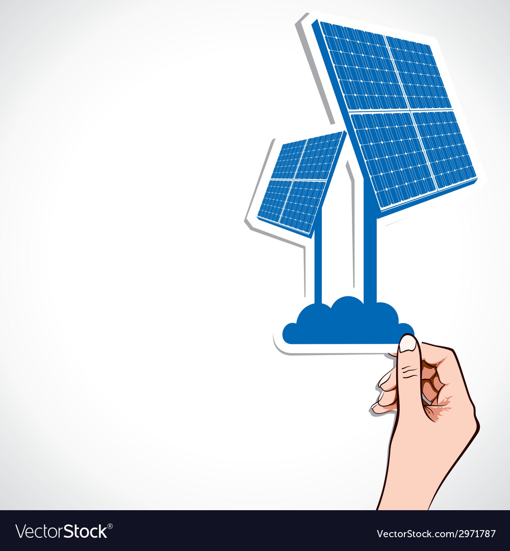 Blue wind solar panel vector | Price: 1 Credit (USD $1)