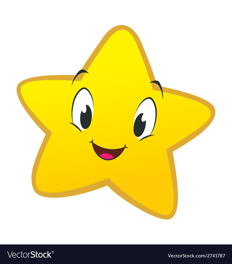 Cartoon little star vector | Price: 1 Credit (USD $1)