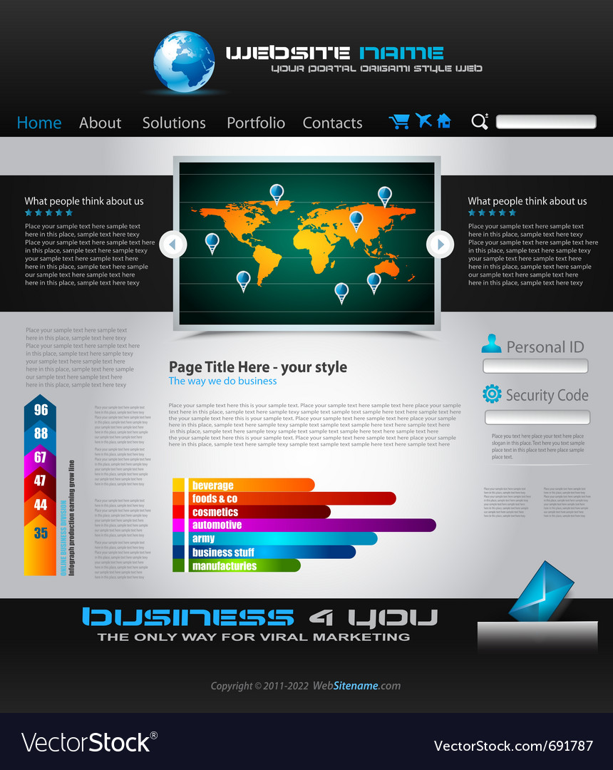 Complex origami website vector | Price: 3 Credit (USD $3)